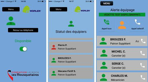Copie d'écran de l'application WOALEN